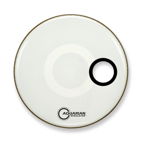 "Aquarian Regulator Series Small Hole 22"" Drumhead with Ring - White"
