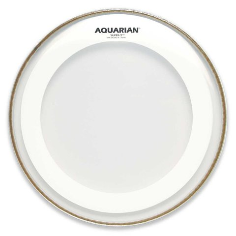 "Aquarian Super-2 Series 8"" Drumhead with Studio-X Ring"
