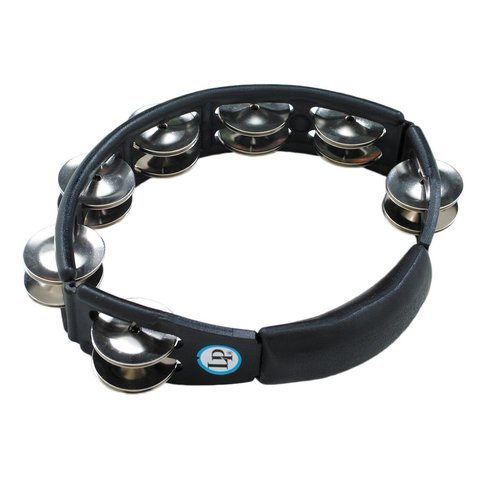 LP Cyclops Jingle Tambourine - Steel/Black/Handheld