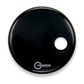 "Aquarian Aquarian Ported Small Hole 18"" Bass Drumhead - Black"
