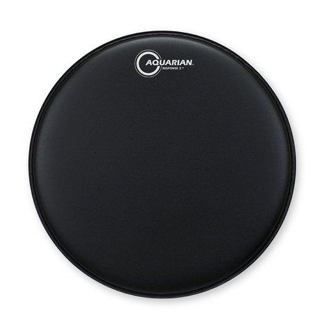 "Aquarian Response 2 Series Texture Coated 12"" (2-Ply) Drumhead - Black"