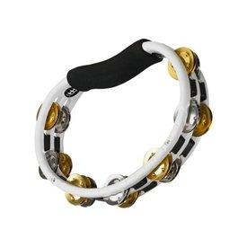 Meinl Meinl ABS Hand Held Tambourine Recording Combo Dual-Alloy Jingles White