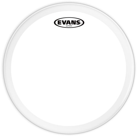 """Evans EQ1 Clear 24"""" Bass Drumhead"""