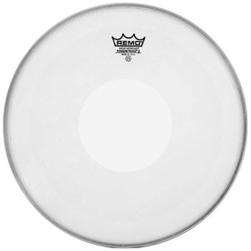 "Remo Remo Coated Powerstroke X 15"" Diameter Batter Drumhead - Clear Dot on Top"