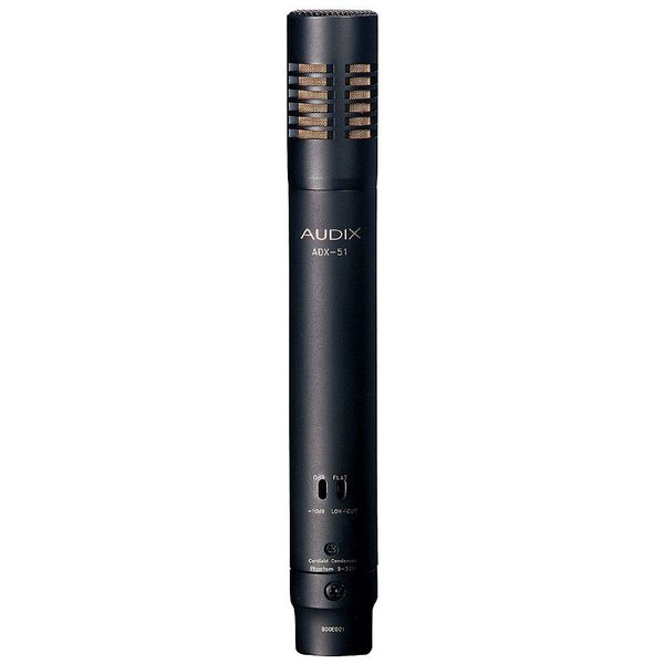 Audix ADX51 Pencil Condenser Microphone; Includes Clip, Windscreen and Pouch
