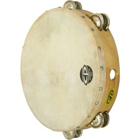 LP LP CP 10 Tambourine with Wooden Head - Double Row of Jingles