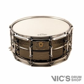 Ludwig Ludwig USA Black Beauty 6.5x14 Hammered Shell Snare Drum w/ Tube Lugs