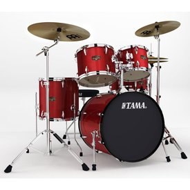Tama Tama Imperialstar 5 Piece Ready-To-Rock Drumset w/ Hardware And Cymbals in Candy Apple Mist