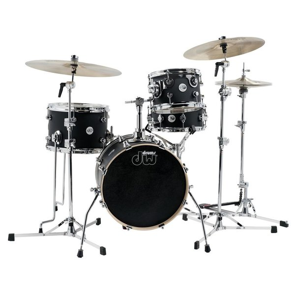 DW DW Design Mini Pro 4 Piece Shell Pack in Black Satin