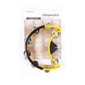 Rhythm Tech Rhythm Tech Drum Set Tambourine-Yellow-Nickel Jingles
