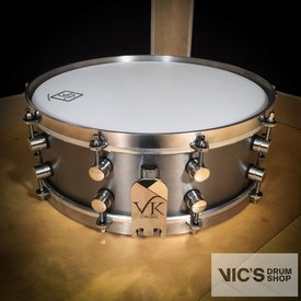 VK Drums Titanium 5x14 Snare Drum w/ Stainless Straight Hoops