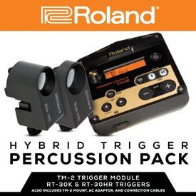 Roland Roland Hybrid Trigger Pad-includes TM-2, RT-30HR, trigger cables and mounting clamp