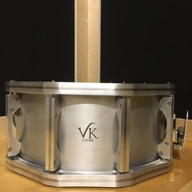 VK Drums VK Drums Hybrid Aluminum 6.5x14 Snare Drum w/ Stainless/Ally Hoops And Lugs
