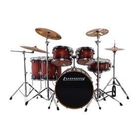 Ludwig Ludwig Evolution Maple 6 Piece Shell Pack in Mahogany Burst (22/10/12/14/16/14SD)