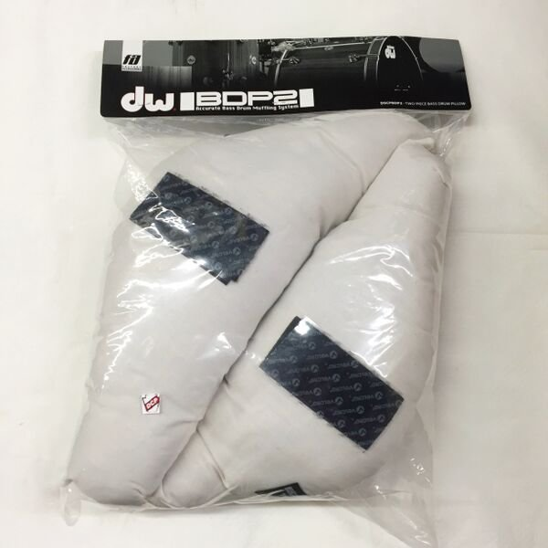 DW DW 2 Piece Bass Drum Muffler Pillow Set; White