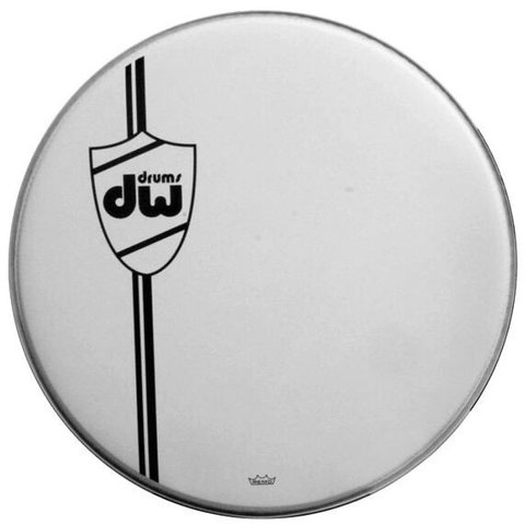 DW Coated Wht Bass Drum Head, Classic 22""