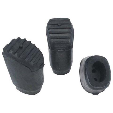 Gibraltar Elliptical Leg Rubber Feet; 3 Pack