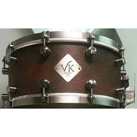 VK Drums VK Drums Raw Copper 6.5x14 Snare Drum w/ Stainless Straight Hoops