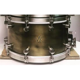 VK Drums VK Drums Patina Brass 7x14 Snare Drum w/ Stainless Hardware