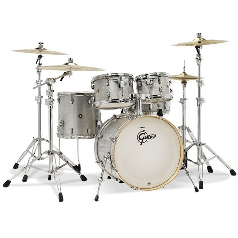 Gretsch Catalina Maple Groove 5 Piece Shell Pack in Silver Sparkle Finish