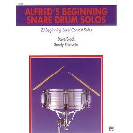 Alfred Publishing Alfred's Beginning Snare Drum Solos by Sandy Feldstein and Dave Black; Book