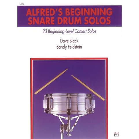 Alfred's Beginning Snare Drum Solos by Sandy Feldstein and Dave Black; Book