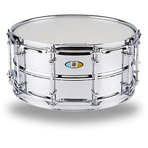 Ludwig Supralite 6.5x14 Steel Snare Drum