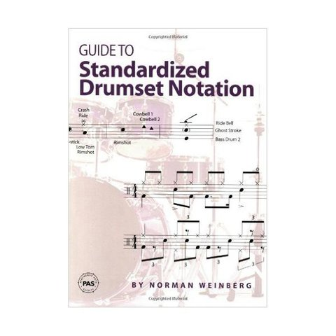 Guide to Standardized Drumset Notation by Norman Weinberg; Book