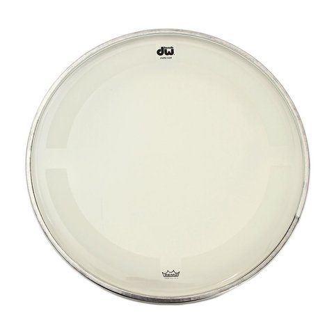 "DW 22"" Coated Clear Bass Drum Head"