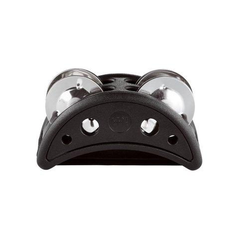 Meinl Compact Foot Tambourine Plastic w/ Steel Jingles, ,Black