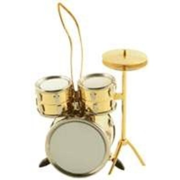 Holiday Ornament: Gold Drum Set