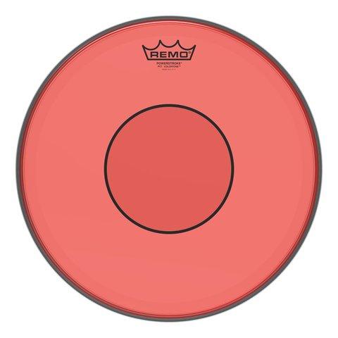 "Remo Powerstroke 77 Colortone  Red Drumhead, 14"""