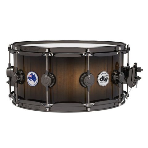 DW Collector's Limited Edition Tasmanian Sassafras 6.5x14 Snare Drum w/ Black Nickel Hdw and Deluxe Bag