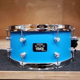Trick Trick Drums VMT 6.5x14 16 Lug Snare Drum in Cast Blue