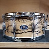 Chicago Drum 6.5x14 Maple/Poplar Snare Drum in Fractal Wood Burn Finish