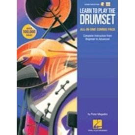 Hal Leonard Learn to Play the Drumset – All-in-One Combo Pack By Peter Magadini, Complete Instruction from Beginner to Advanced - Softcover Media Online, Pete Maagadini