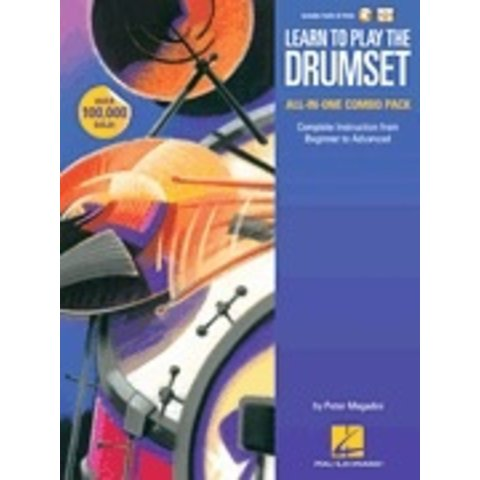 Learn to Play the Drumset – All-in-One Combo Pack By Peter Magadini, Complete Instruction from Beginner to Advanced - Softcover Media Online, Pete Maagadini