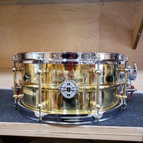 Dunnett Classic Model 2N Brass 6.5x14 Snare Drum