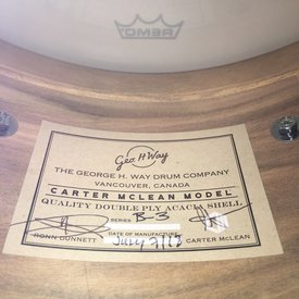 Dunnett George Way 7x14 Acacia Carter McLean Model Snare Drum