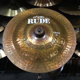 "Paiste USED Paiste Rude 18"" China Cymbal"