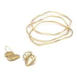 Material Wit Material Wit Brass - Ripple Bracelet