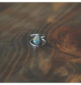 Lonewolf Collective Lonewolf Collective - Gold Blue Oasis Turquoise Rings (Size 5/6/7)