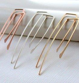 """Linda Trent Rectangle Threader Earring 2"""""""