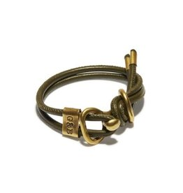 Giles & Brother Glies & Brother Round Leather Wrap Bracelet