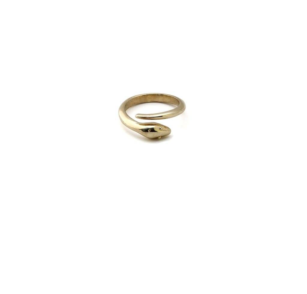 Julie Nolan Julie Nolan Snake Wrap Brass Ring