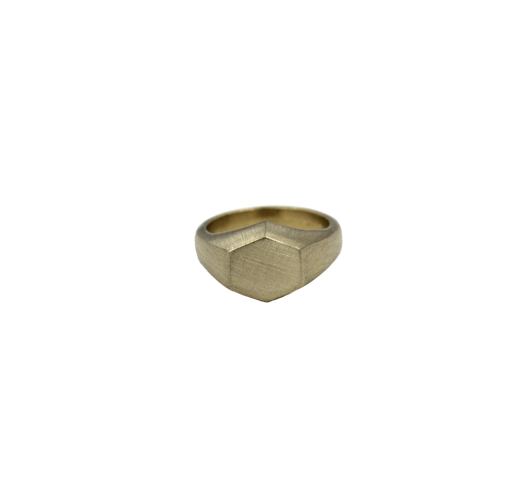 Julie Nolan Julie Nolan Hex Brass Ring (6)