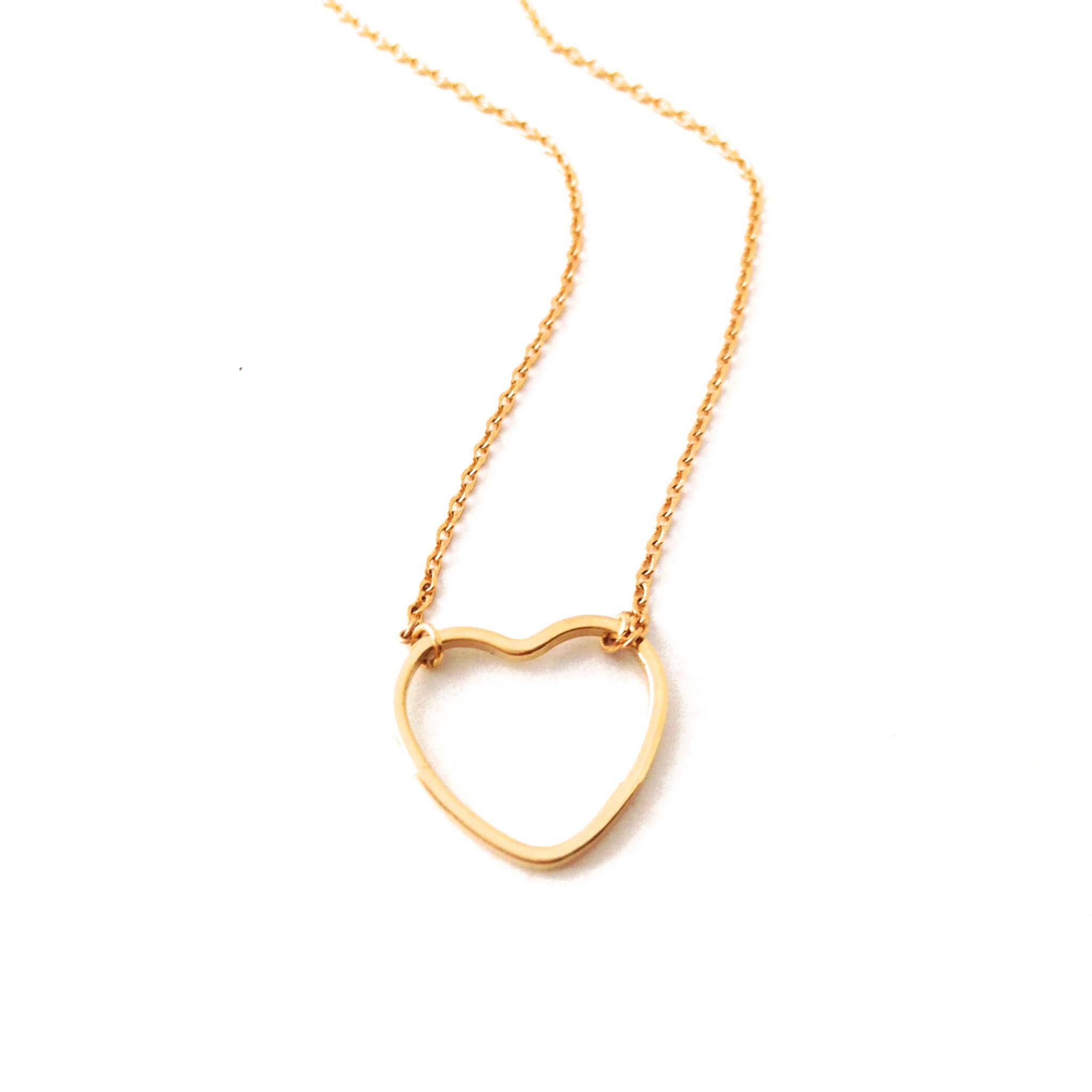 Honeycat Honeycat Open Heart Necklace