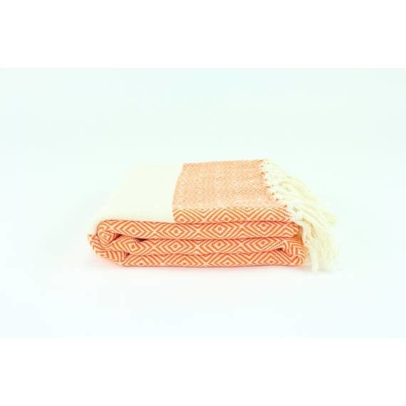 "Turkish Linen Towels Turkish Towel 39"" X 76"" Diamond"