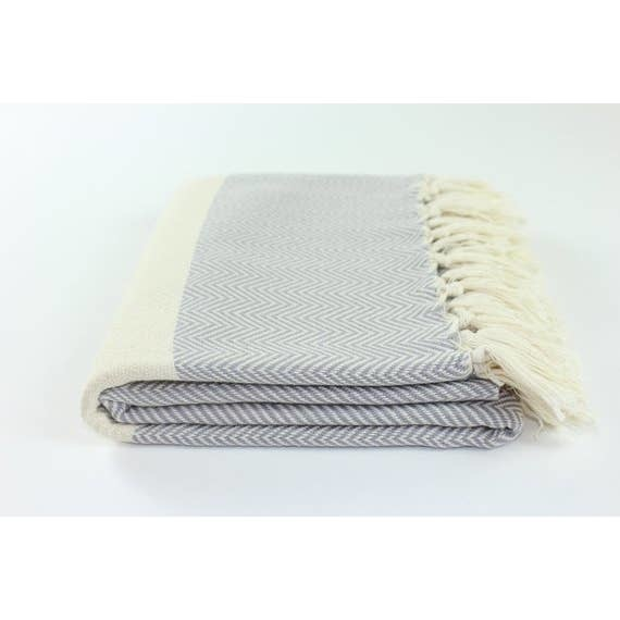 "Turkish Linen Towels Turkish Towel 39"" X 76"" Herringbone"