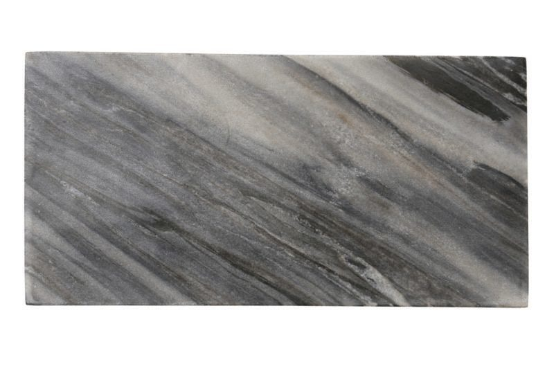 Be Home Be Home - Gray Marble/Wood Reversible Rectangular Board